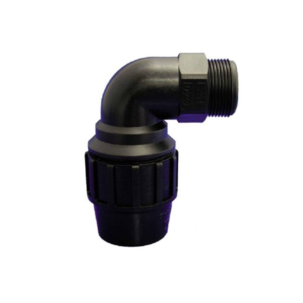 CODO 90º ROSCA MACHO Ø 40MM-1 1/4  PP FITTING