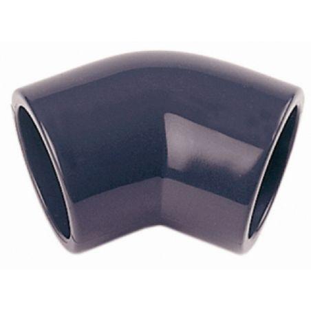 CODO PVC PRESION 16BAR ENCOLAR H-H 45º Ø 32