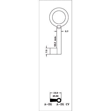 LLAVE ARMARIO LATON A-0G(L)