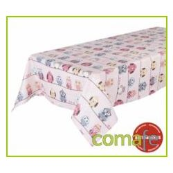 MANTEL RECTANGULAR ROSA PINK OWLS 145X210CM