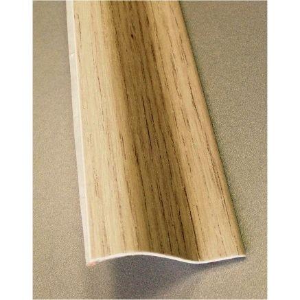 PERFIL PVC PLAQUETA Z ADHESIVO ROBLE POLAR 37MMX1MT